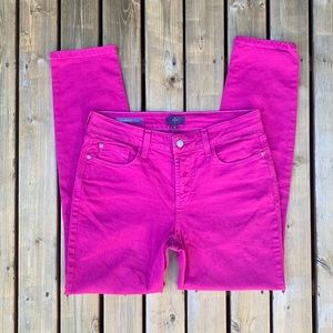 NYDJ Pink Clarissa Ankle Jeans, Size 4